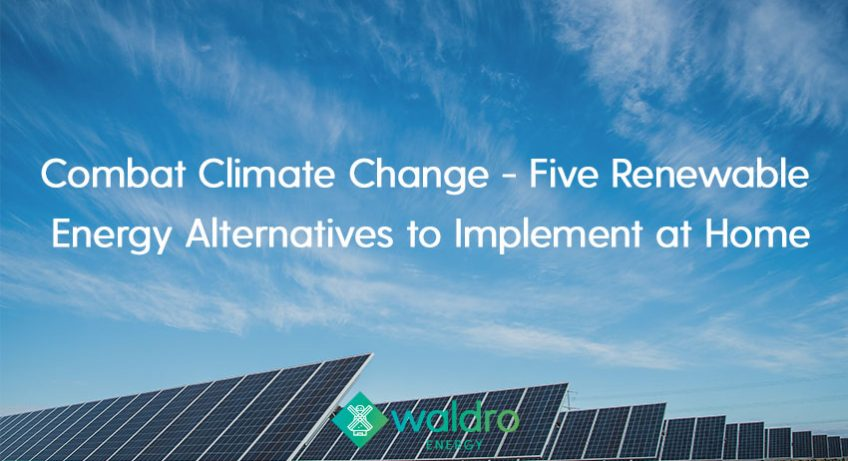 Waldro FeaturedImage001 848x461 - Combat Climate Change - Five Renewable Energy Alternatives to Implement at Home